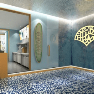 餐飲商空室內設計使用海邊元素的tea by the bay