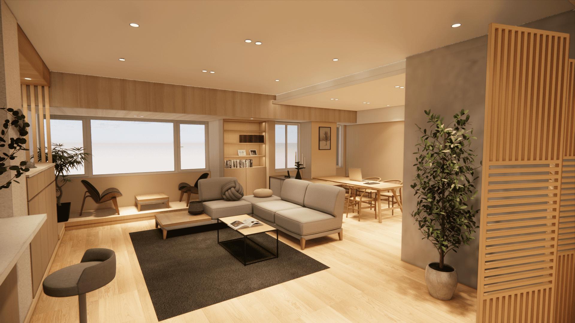 文山區居家裝潢【單身貴族的老屋翻新   日式家庭式】拾間室內設計